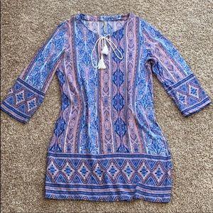 Entro bohemian mini dress